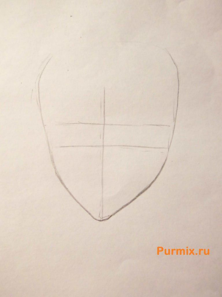 How to draw Mitsuki Nase from an anime beyond with a pencil step by step 2