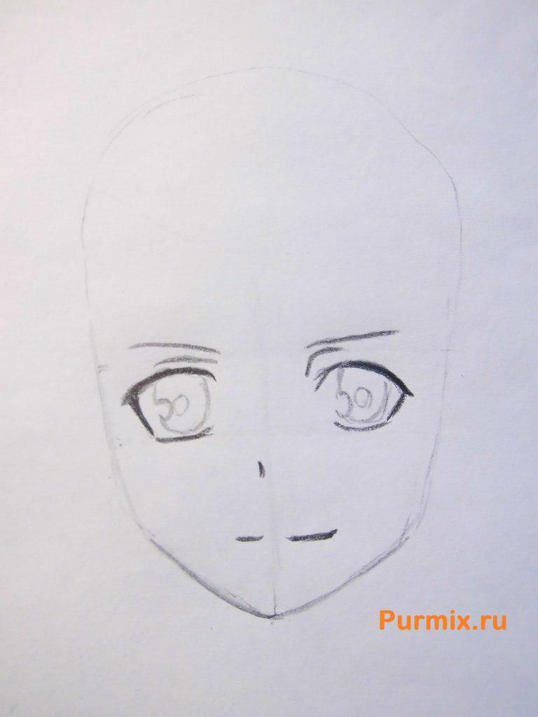 How to draw to Ruhr from an anime the Monochrome factor with a pencil 3