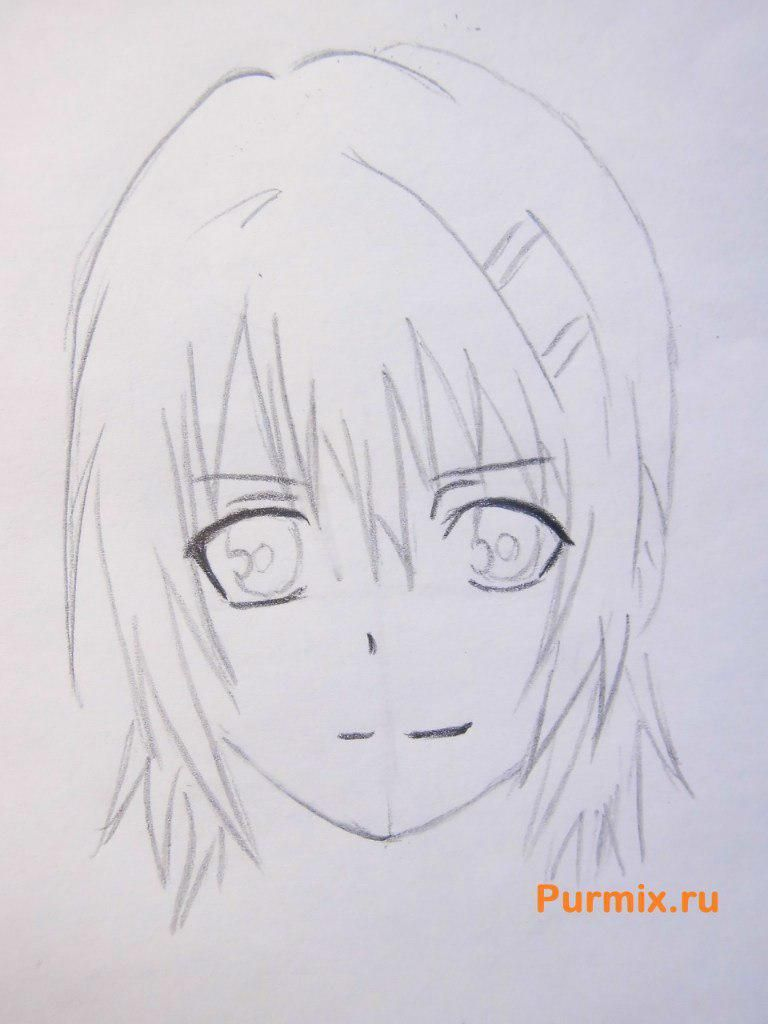 How to draw to Ruhr from an anime the Monochrome factor with a pencil 4