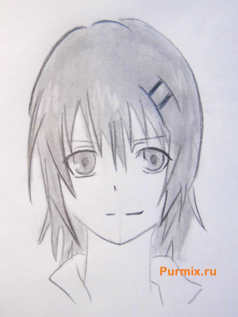 How to draw to Ruhr from an anime the Monochrome factor with a pencil 7