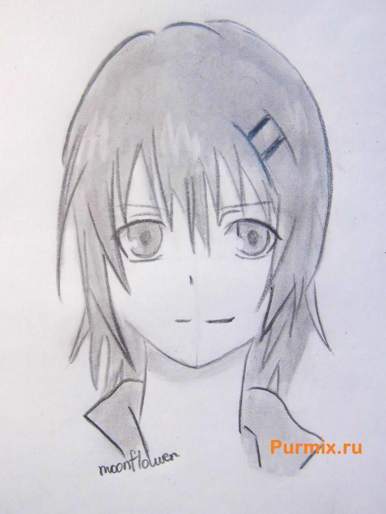 How to draw Ai Sudzuno from an anime the Monochrome factor with a pencil