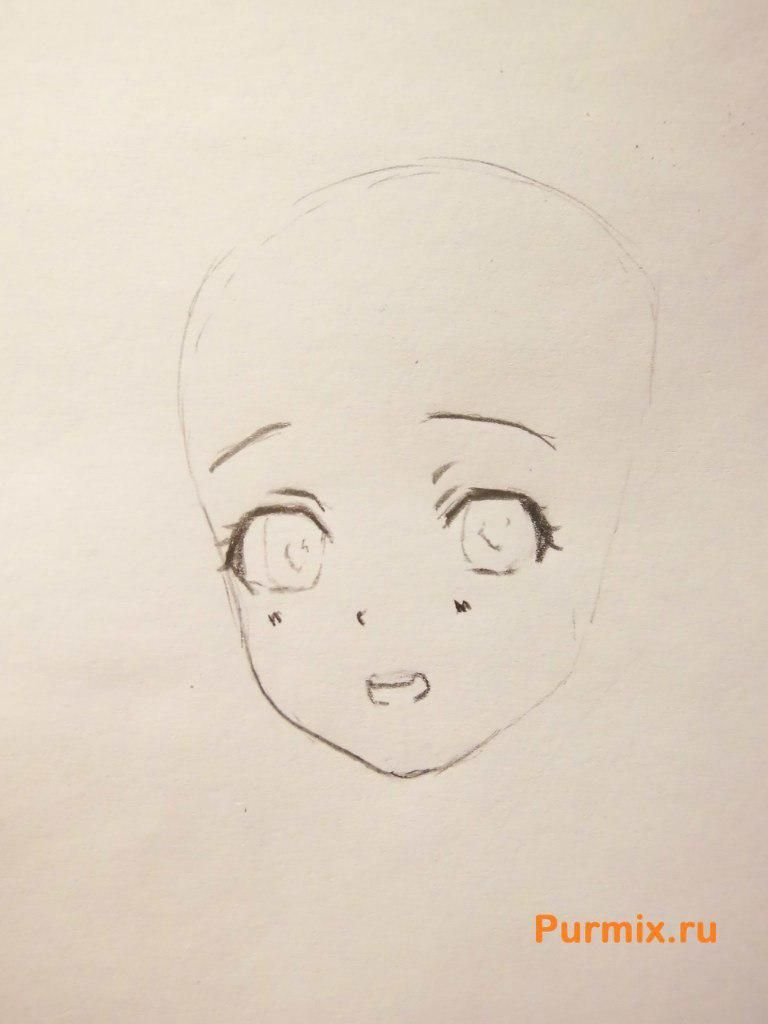 How to draw Miray Kuriyama from an anime beyond with a pencil 3