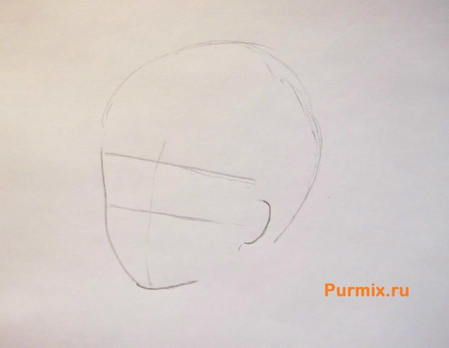 How to draw Kengo Asamur from an anime the Monochrome factor with a pencil 2