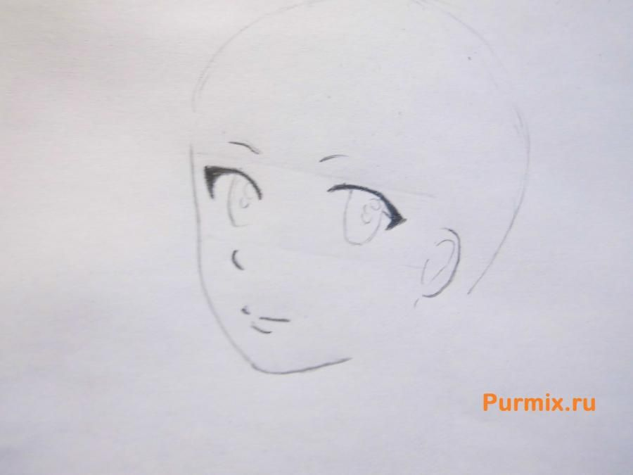How to draw Kengo Asamur from an anime the Monochrome factor with a pencil 3