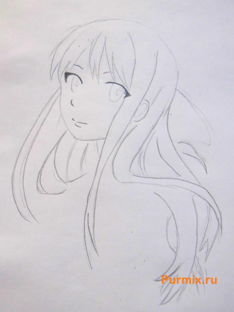 How to draw Kengo Asamur from an anime the Monochrome factor with a pencil 4