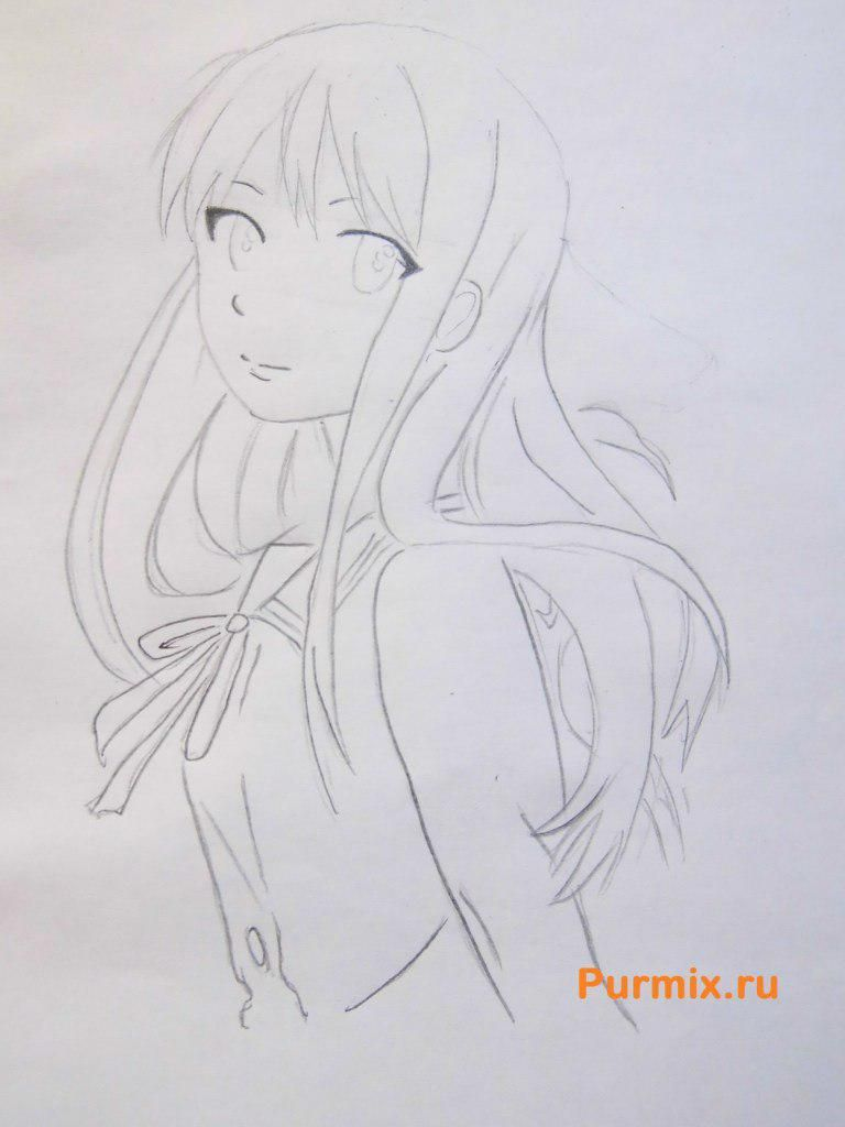 How to draw Kengo Asamur from an anime the Monochrome factor with a pencil 5