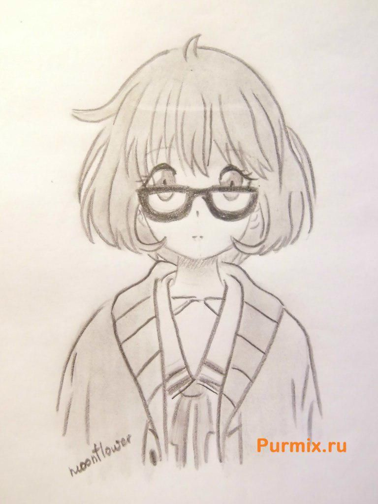 How to draw Miray Kuriyama from an anime beyond with a pencil