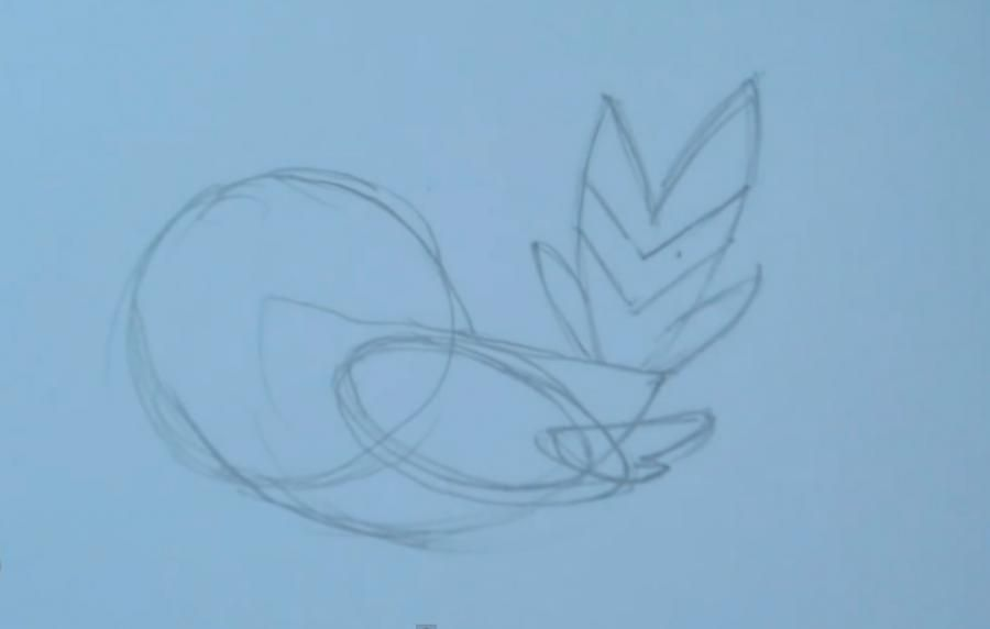 How to draw the Pokemon Iveltal from Pok?mon X and Y pencil 2