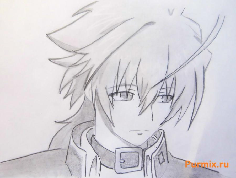 How to draw Akira Nikaydo from an anime the Monochrome factor with a pencil