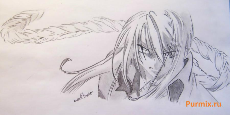 How to draw Sirogane from an anime the Monochrome factor with a pencil