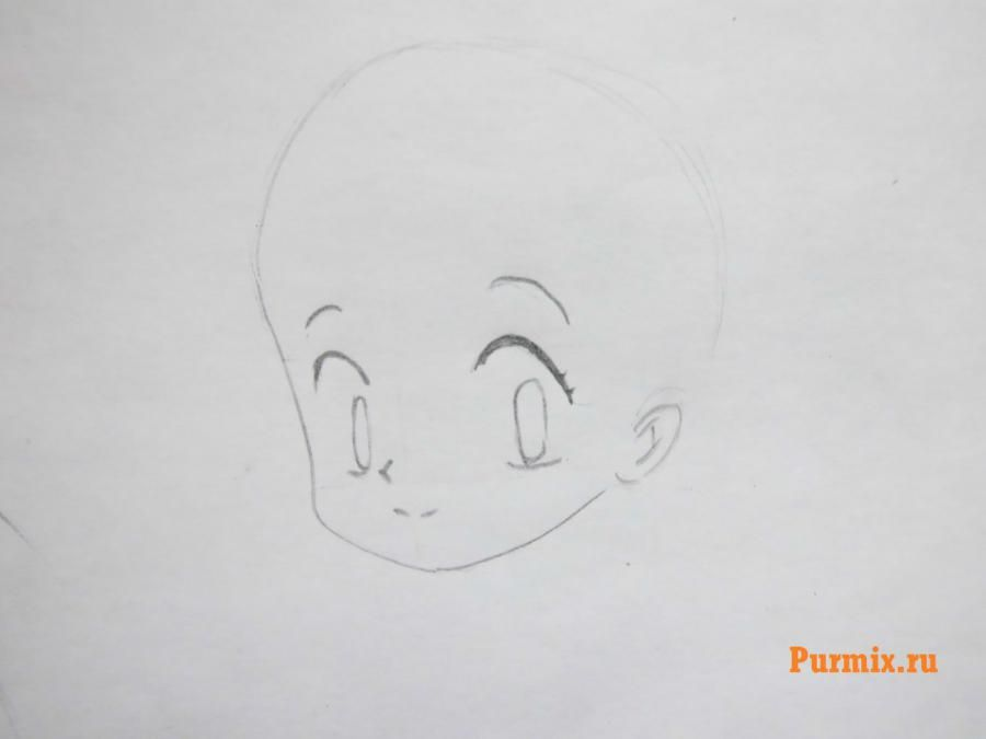 How to draw Inuyasya from an anime of InuYasha with a pencil step by step 3