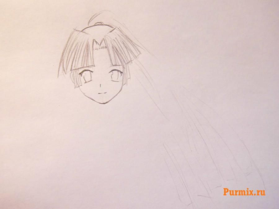 How to draw Uinri Rokbell from an anime the Steel alchemist step by step 4