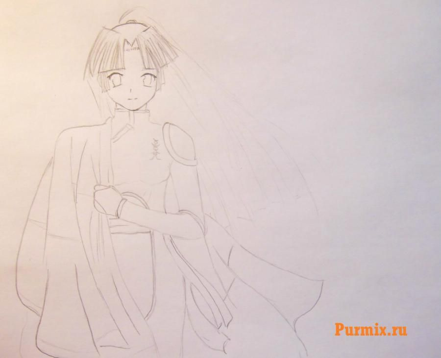 How to draw Uinri Rokbell from an anime the Steel alchemist step by step 5