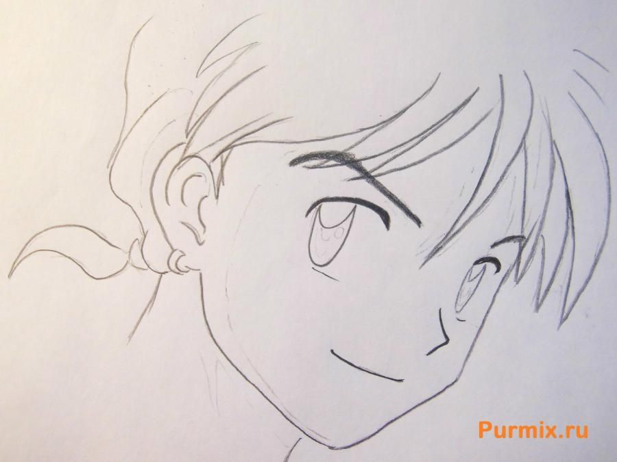 How to draw Edward Elrik from an anime the Steel alchemist with a pencil 4