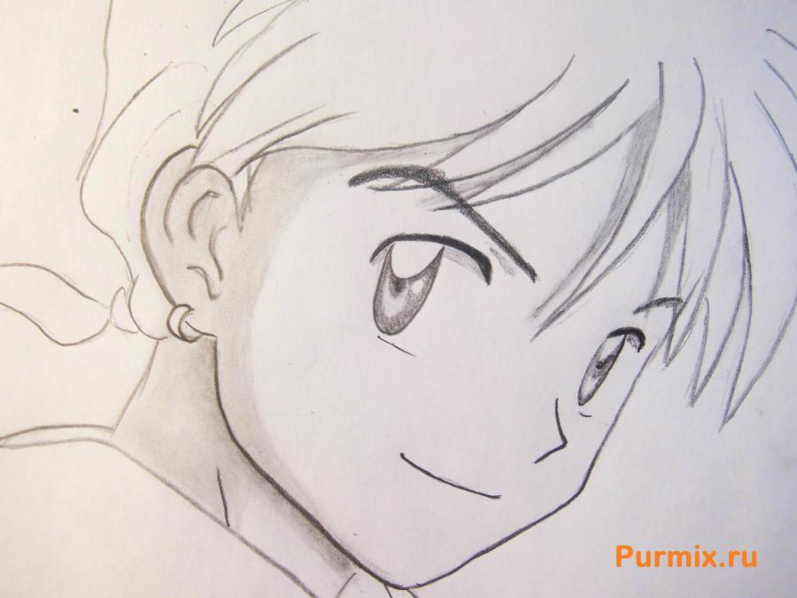 How to draw Edward Elrik from an anime the Steel alchemist with a pencil 6