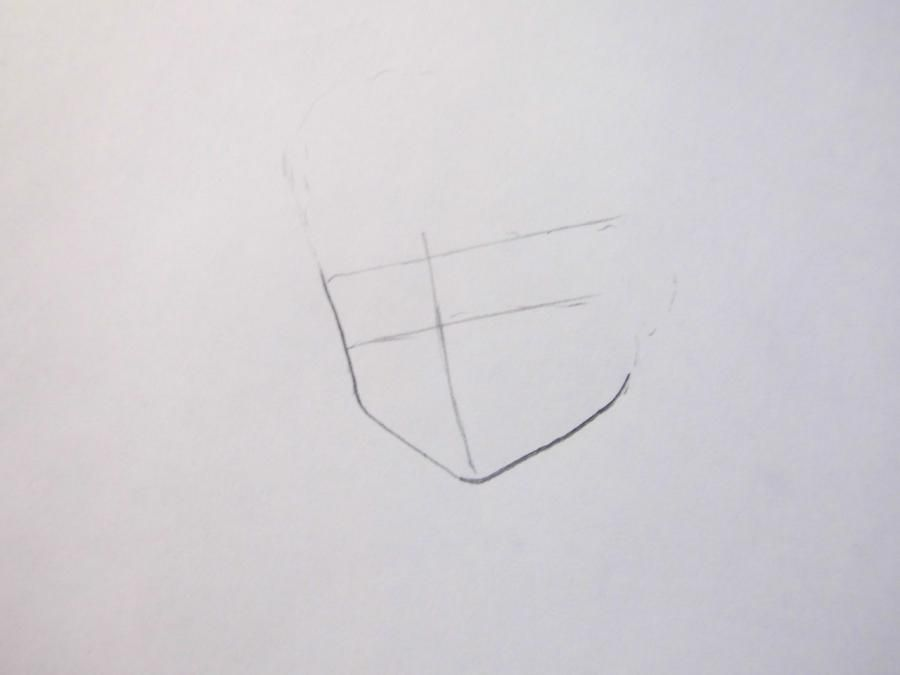 How to draw Yu Naruse from an anime of WataMote with a pencil 2