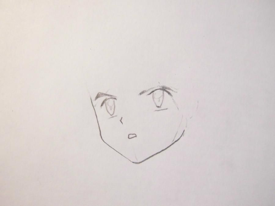 How to draw Yu Naruse from an anime of WataMote with a pencil 3