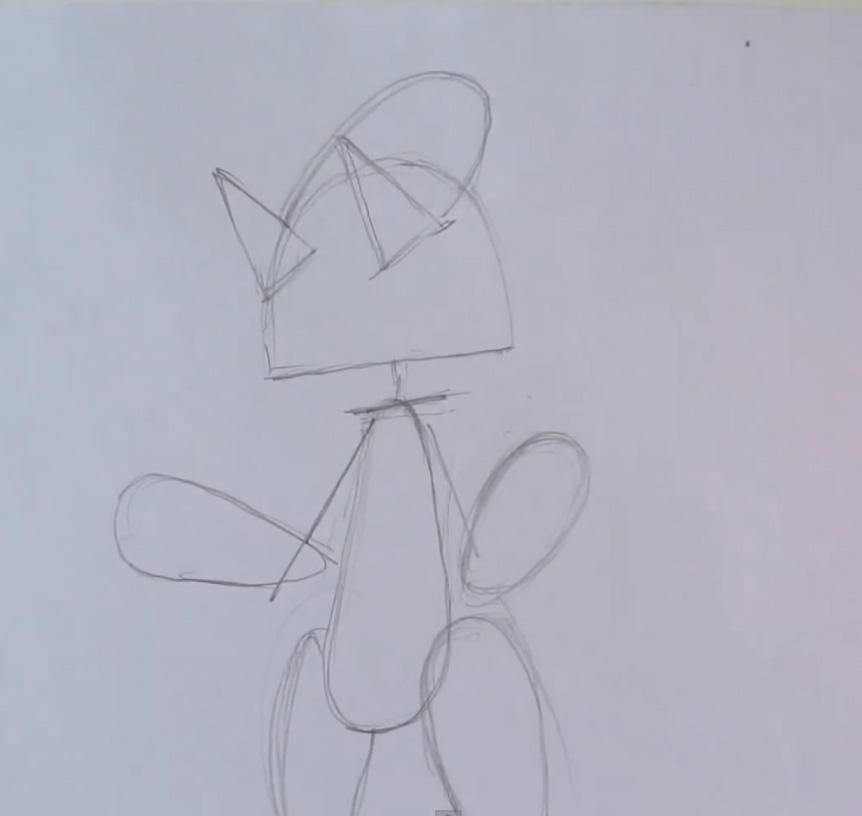 How to draw Gogoat from game Pok?mon X and Y pencil step by step 2