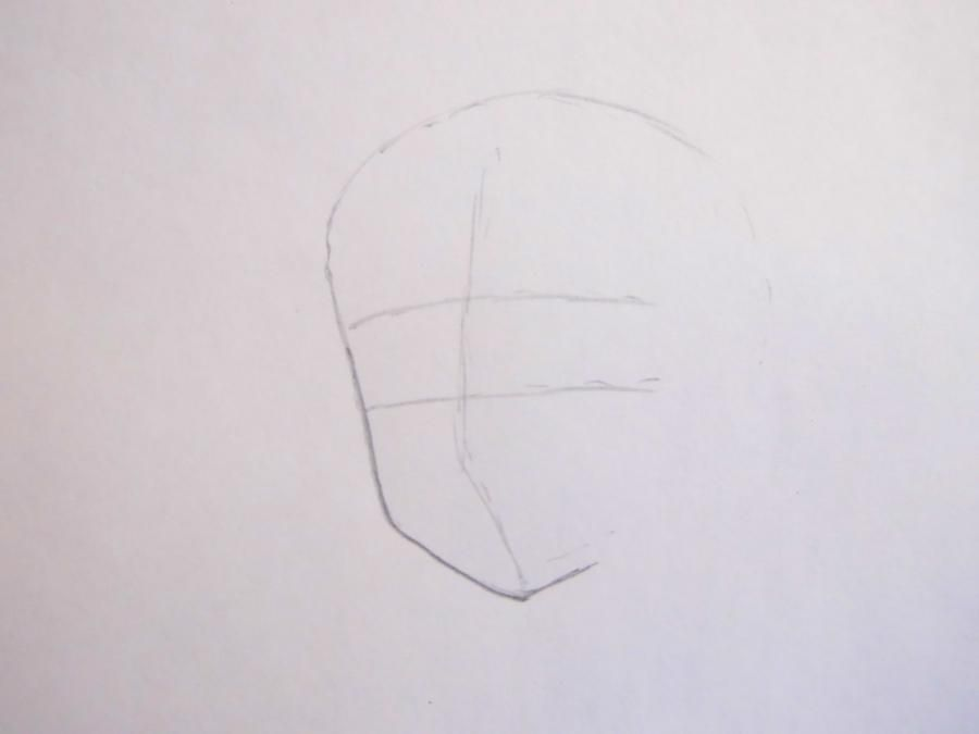 How to draw Tomoko Kuroki from an anime of WataMote with a pencil 2
