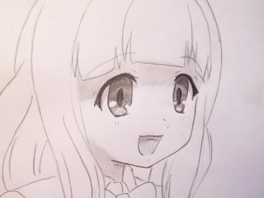 How to draw to Haque from an anime Carried away by ghosts a pencil 6