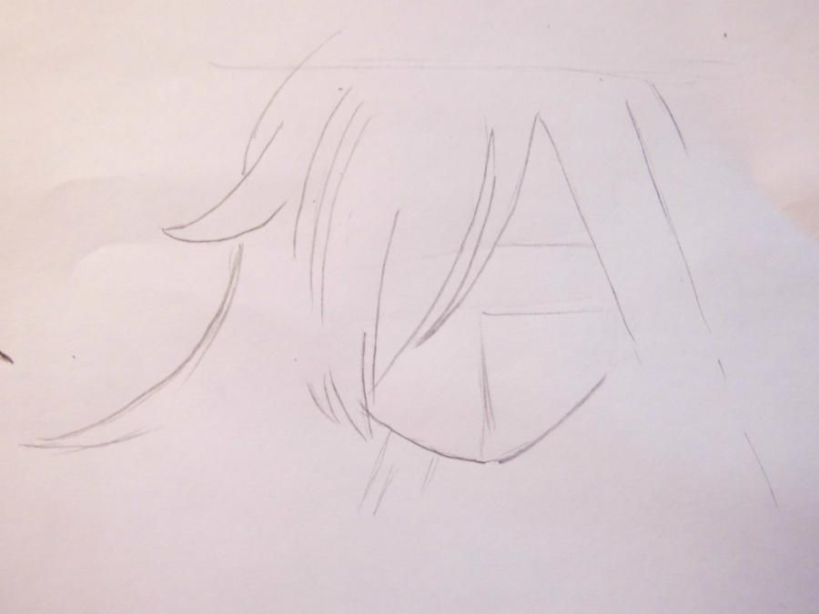 How to draw Tikhiro Ogino from an anime Carried away by a ghost 3