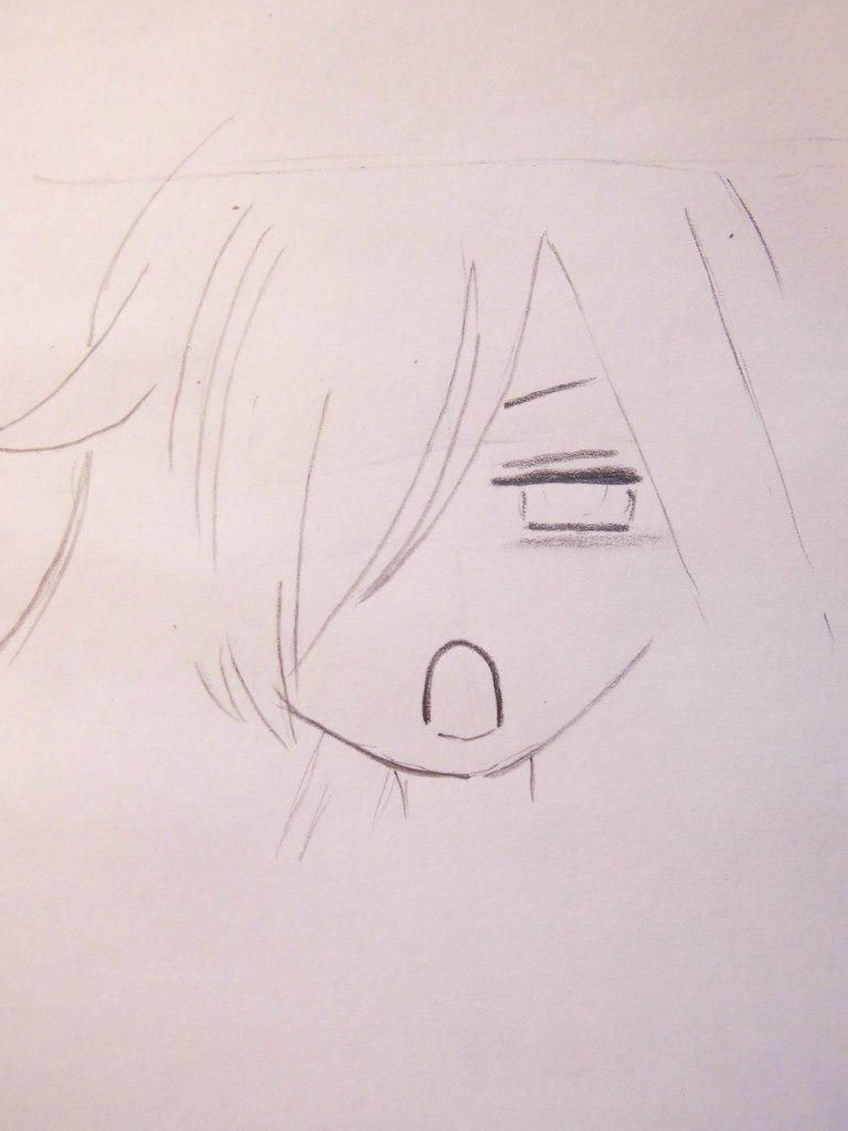 How to draw Tikhiro Ogino from an anime Carried away by a ghost 4