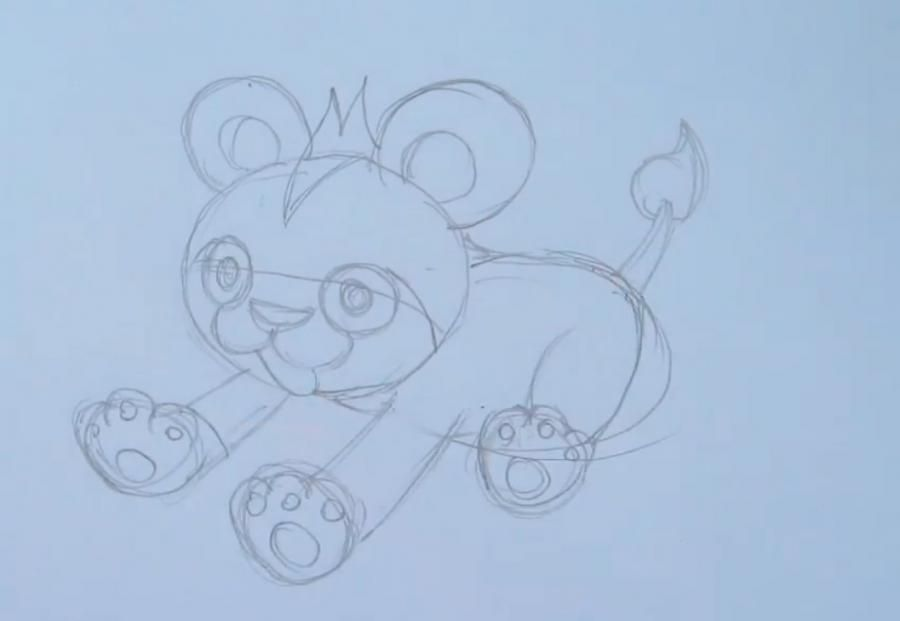 How to draw the Pokemon of Flabebe from Pokemon X and Y with a pencil step by step 3