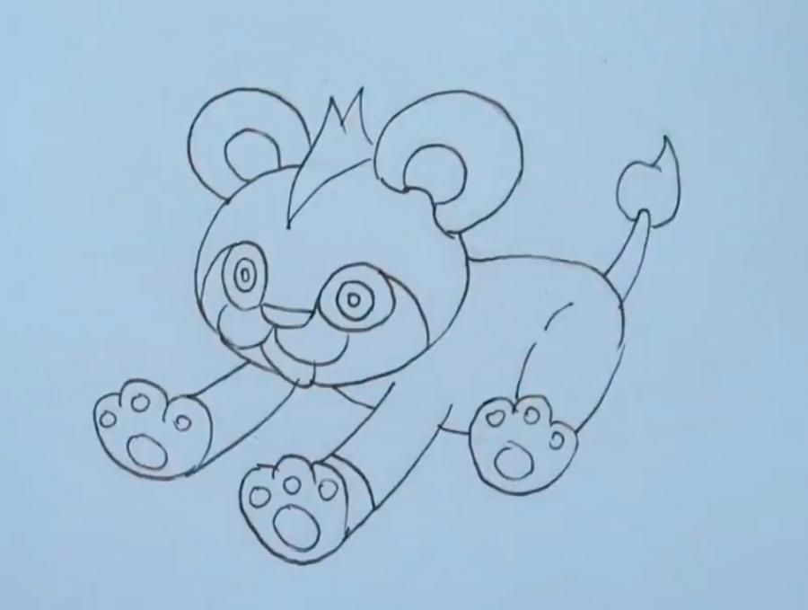 How to draw the Pokemon of Flabebe from Pokemon X and Y with a pencil step by step 4