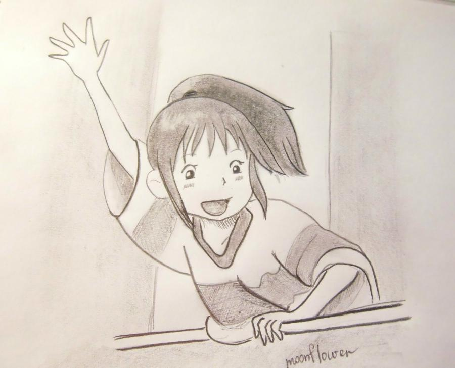 How to draw Tikhiro Ogino from an anime Carried away by a ghost