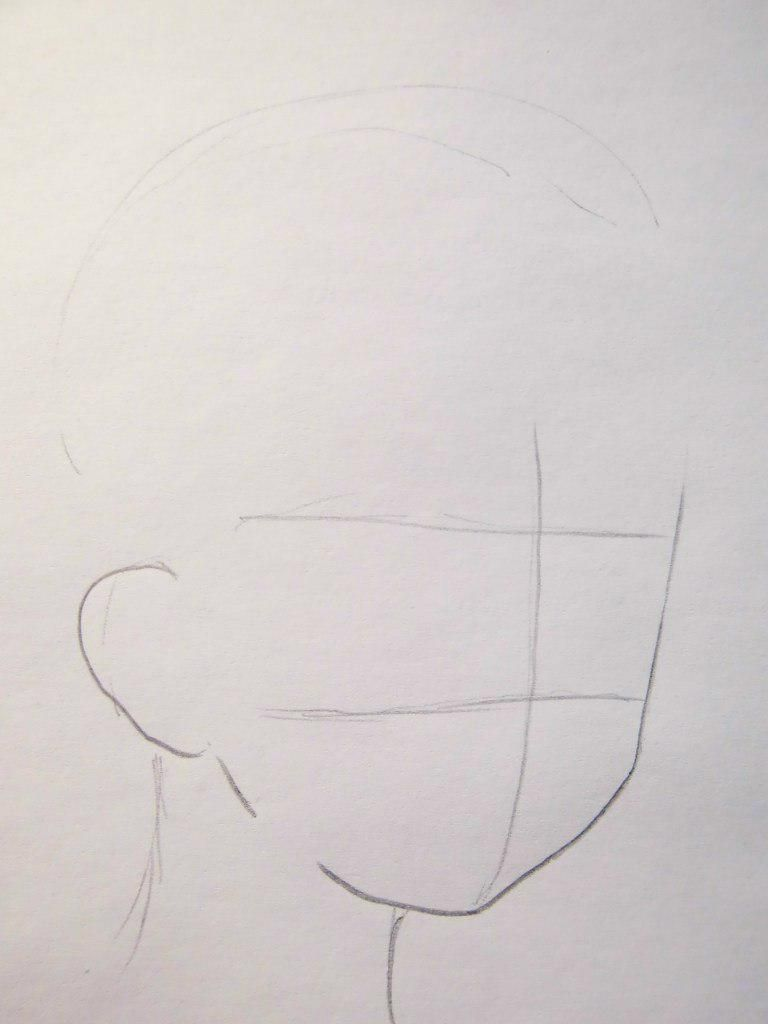 How to draw Tadase Hotori from an anime Chara keepers with a pencil step by step 2