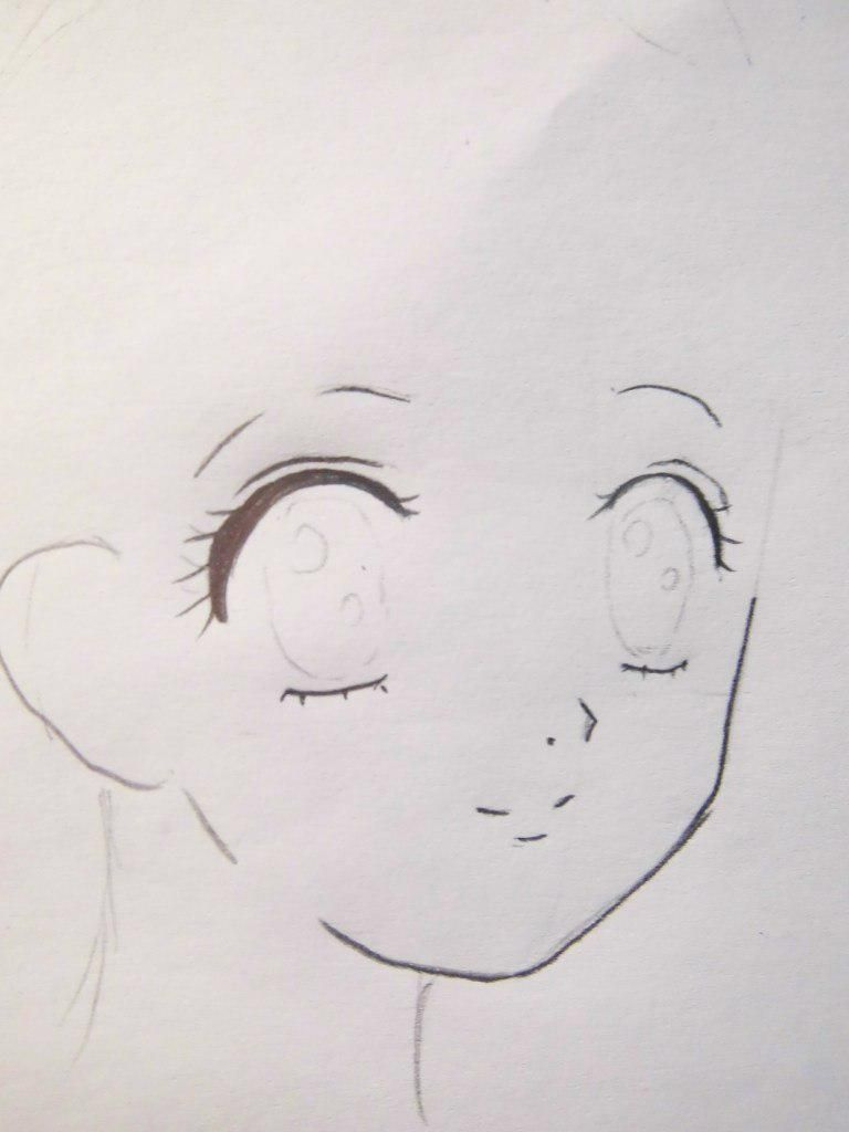 How to draw Tadase Hotori from an anime Chara keepers with a pencil step by step 3