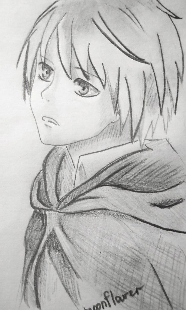How to draw Armin Arlert from an anime Revolt of titans