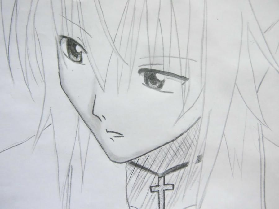 How to draw Takumi Usui from the President of student council - the maid! pencil 6