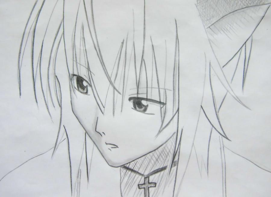 How to draw Ikuto Tsukiyomi from Chara keepers with a pencil step by step