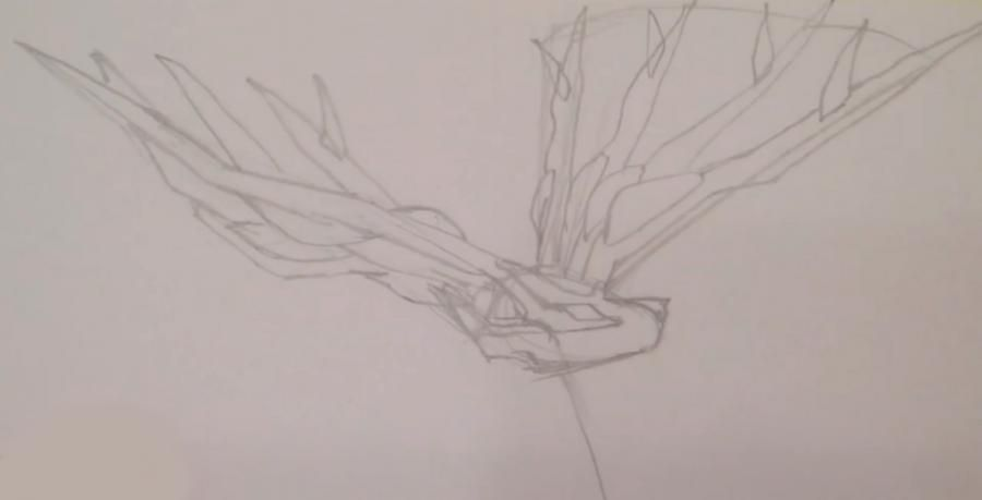 How to draw Fennekin from Pok?mon X and Y pencil step by step 2