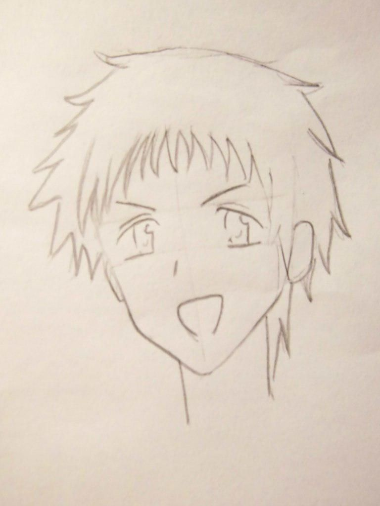 How to draw an anime of girls of schoolgirls with a pencil 4