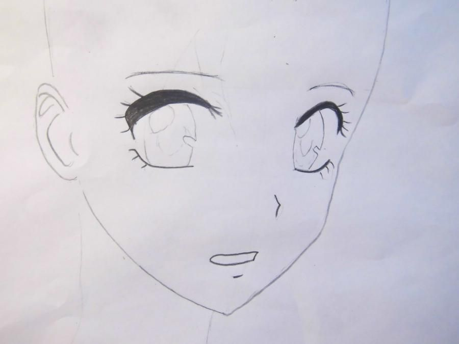 How to draw Yukio Okumur from an anime Blue Ekzortsist step by step 3