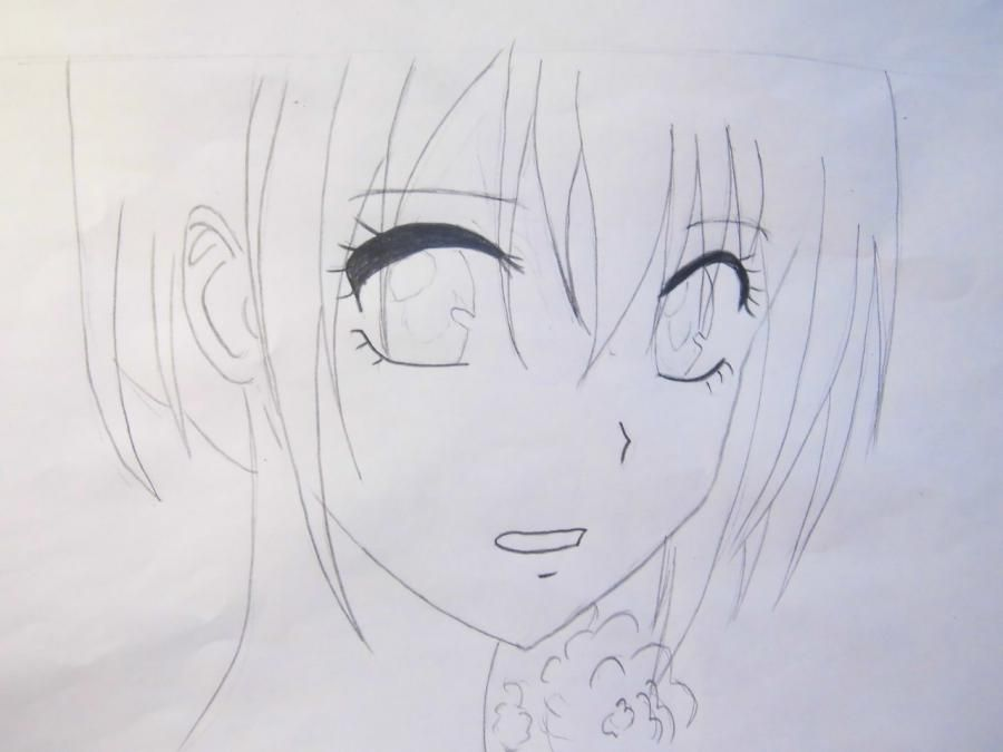 How to draw Yukio Okumur from an anime Blue Ekzortsist step by step 4
