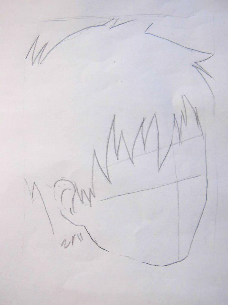 How to draw Siemi Moriyami from Blue Ekzortsist with a pencil 3