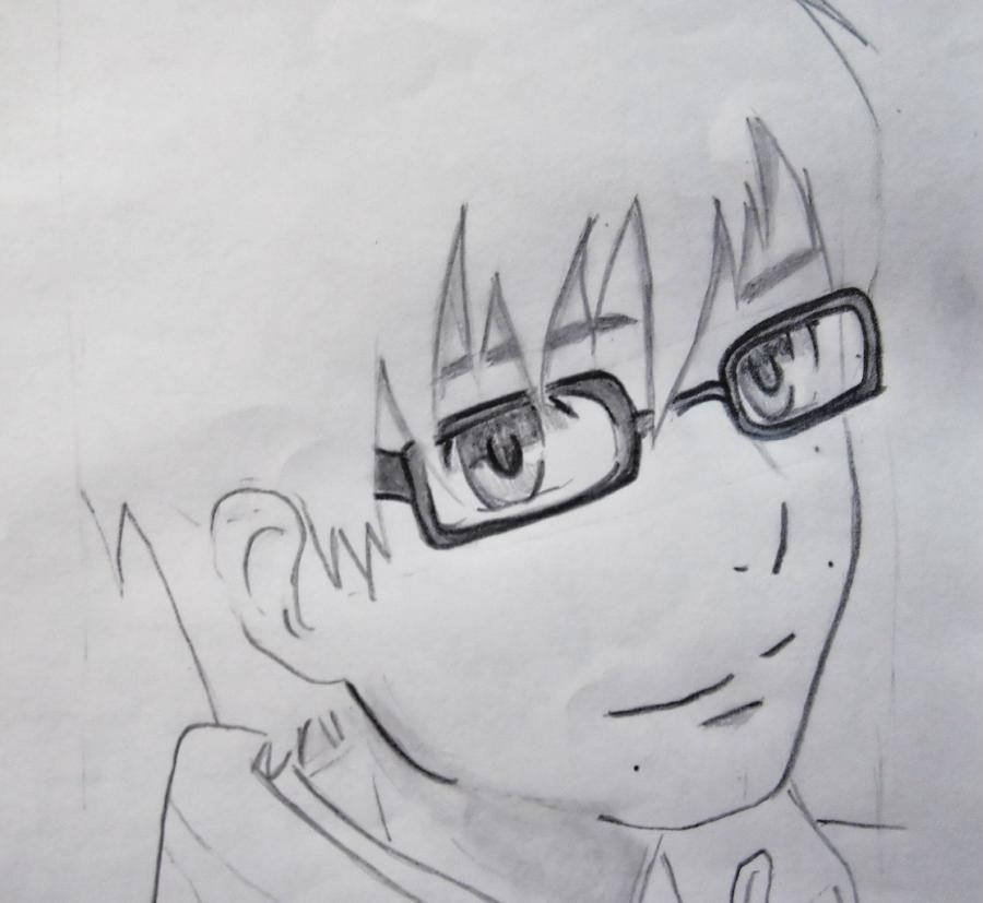 How to draw Siemi Moriyami from Blue Ekzortsist with a pencil 6