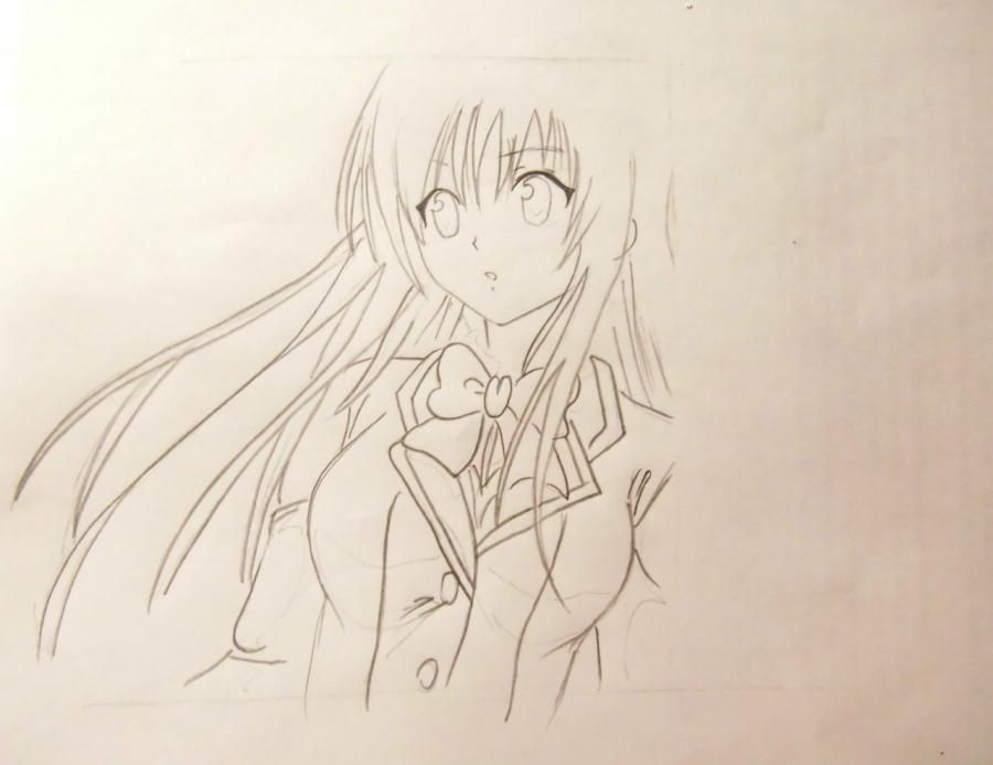 How to draw Gilbert Naytrey from an anime Pandora's Heart with a pencil 5