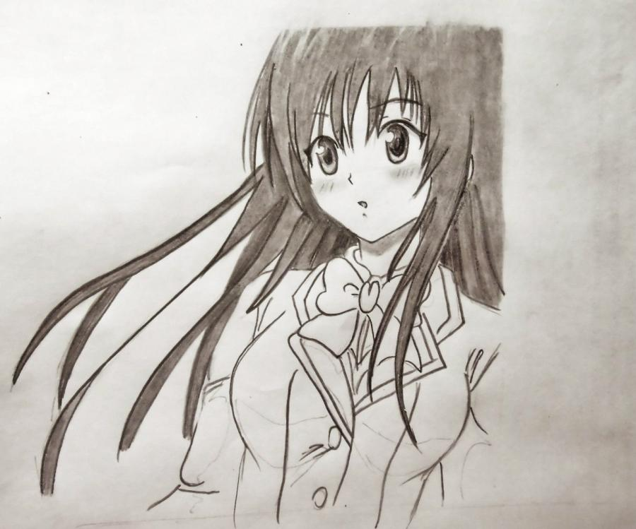 How to draw Gilbert Naytrey from an anime Pandora's Heart with a pencil 7
