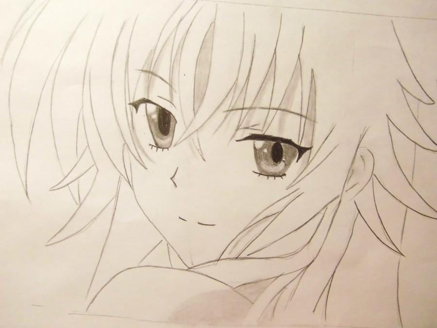 How to draw an anime to steam on a photo with a pencil step by step 5