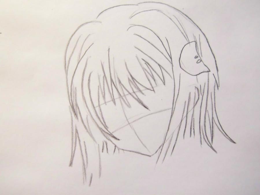 How to draw Zarksis Breyk from an anime Pandora's Heart with a pencil 3