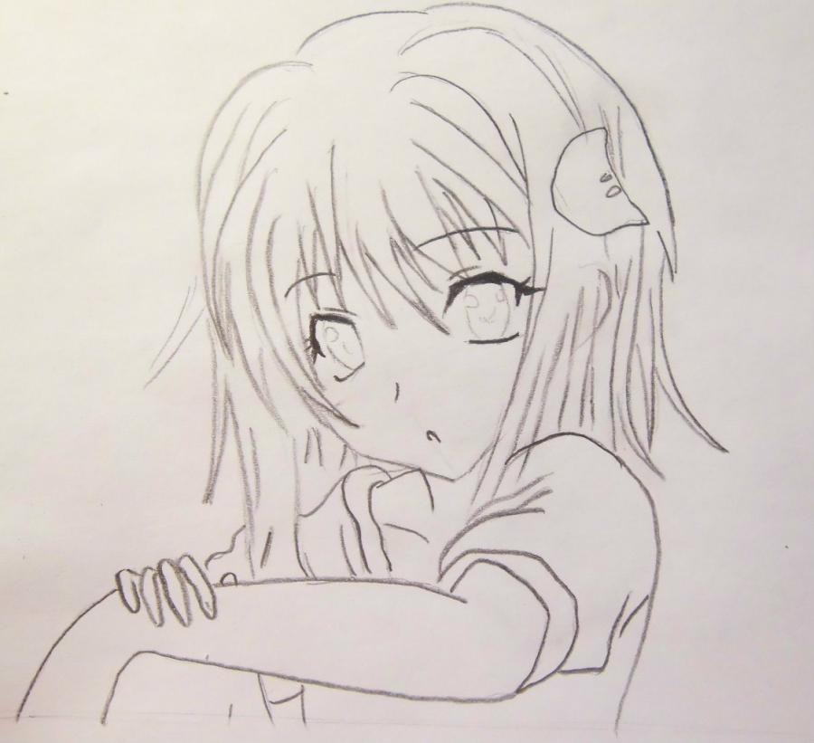 How to draw Zarksis Breyk from an anime Pandora's Heart with a pencil 5