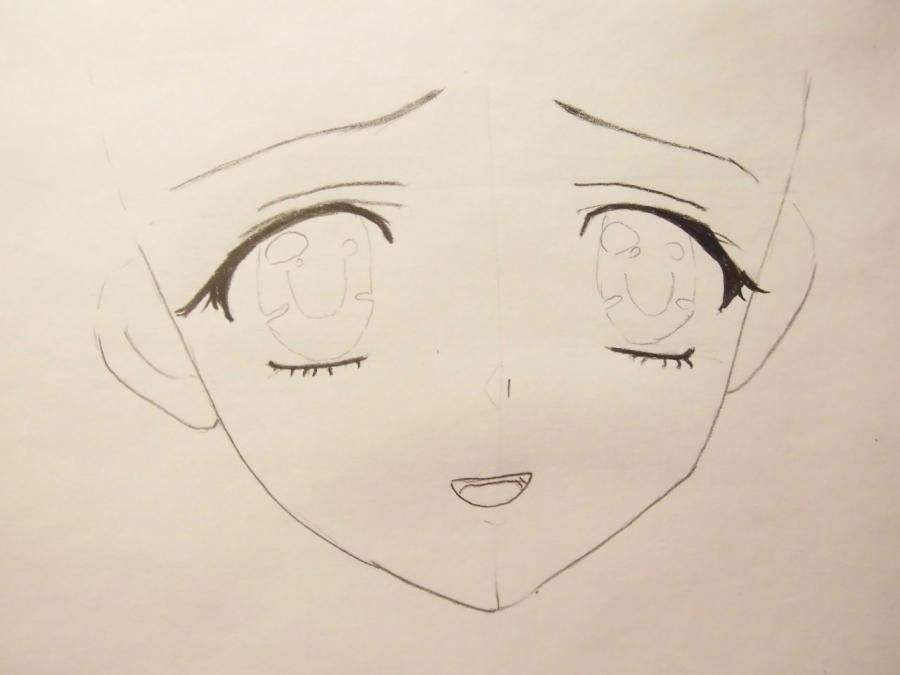 How to draw Alice from an anime Pandora's Heart with a pencil 3