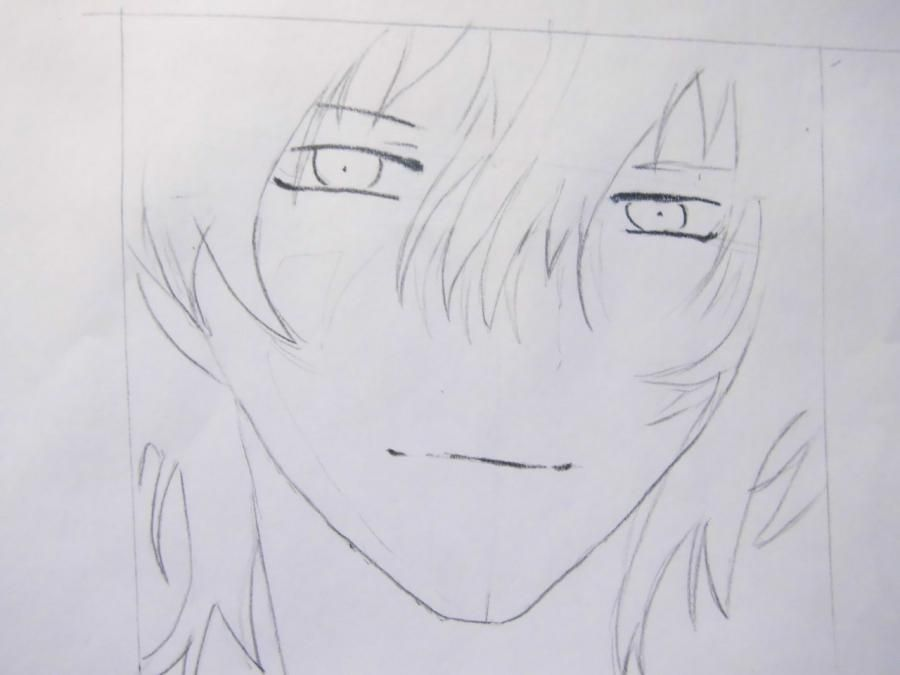 How to draw Oz Bezarius from an anime Pandora's Heart with a pencil step by step 4