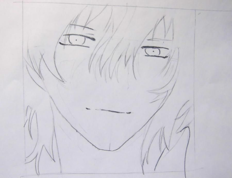 How to draw Oz Bezarius from an anime Pandora's Heart with a pencil step by step 5
