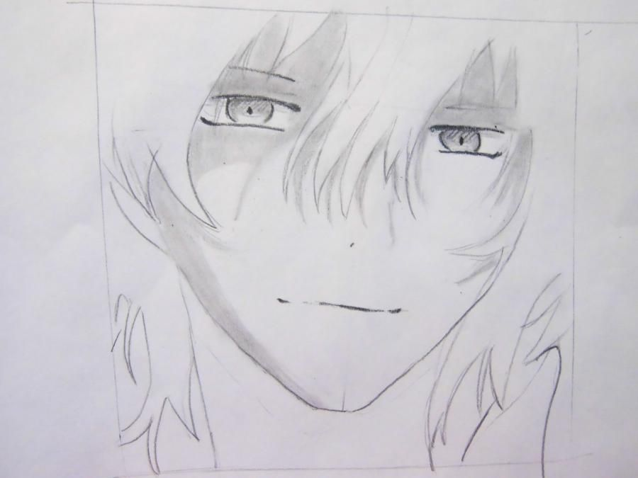 How to draw Oz Bezarius from an anime Pandora's Heart with a pencil step by step 6