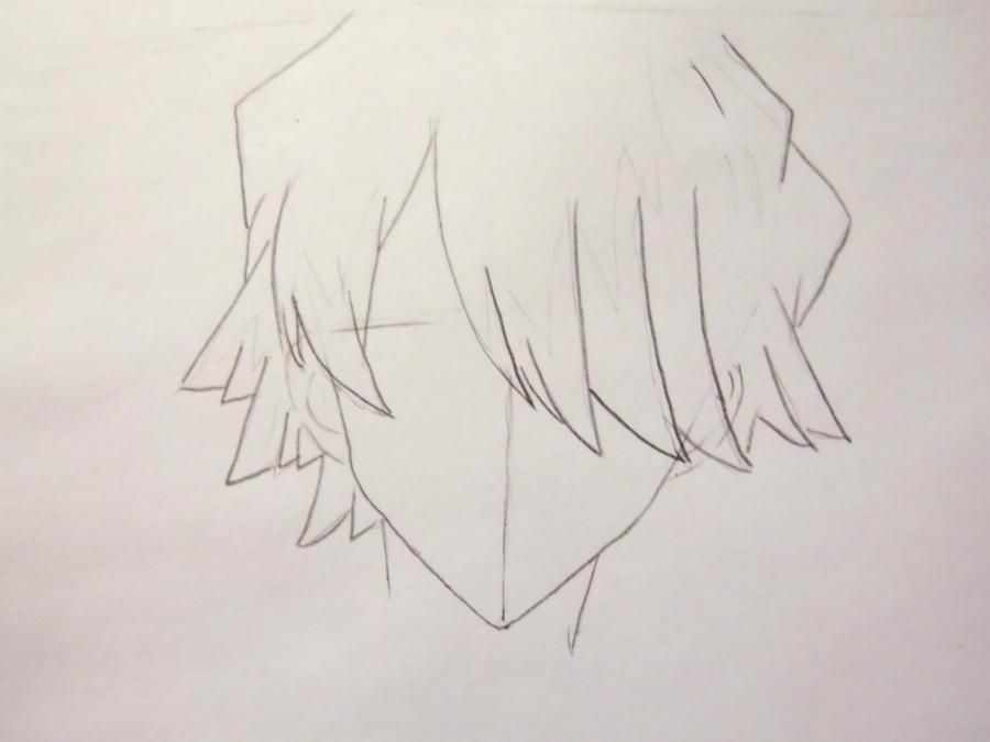 How to draw Grell from an anime the Dark butler with a pencil 3